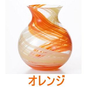 【日本製】ガラス花瓶津軽びいどろ花しずくブーケポット【楽ギフ_包装】