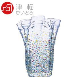 津軽びいどろ ガラス花びん ねぶた 花器 (大) Φ230×H280mm F-75475【ラッキシール対応】