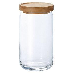 ガラス 保存ビン スタックストック ウッド Lサイズ Φ90×H186mm(1090ml) M-6256 【食器洗浄機対応】【積み重ね対応】【ラッキシール対応】