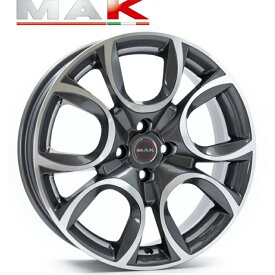 MAK TORINO GM 15インチ6.0J+35 4H98(PCD98) フィアット500/パンダ/プント専用 Fiat 500 , Abarth 500, Panda ホイール4本セット