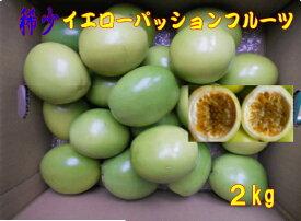 予約 稀少イエローパッションフルーツ 2kg バラ詰め20玉〜25玉 種子島産