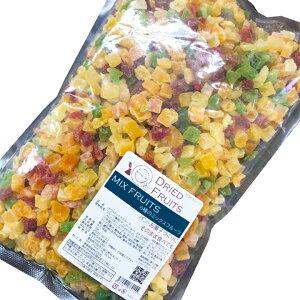 6種のフルーツミックス 1kg / ドライミックスフルーツ / フルーツ果肉…マンゴー(タイ)、イチゴ(中国)、メロン(タイ)、パパイヤ(タイ)、キウイフルーツ(中国)、パインアップル