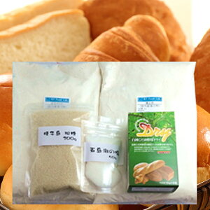 パン作りセット 白神こだま酵母 50g ( 10g×5袋 ) + 春よ恋 1kg + はるきらり 1kg + 粗糖200g + 五島灘の塩 50g セット 強力粉 天然酵母 小麦粉 パン用粉 ホームベーカリー 送料無料 ( 2kgまで同梱可