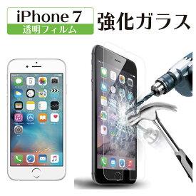 【iPhone7用】iPhoneガラスフィルム 強化ガラス使用(指紋防止コーティング)【ポイント消化】【送料無料】