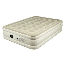 エアーベッド ダブル D【送料無料】電動ポンプ ベロア調 パワーコイル エアマット 簡易ベッド 防災対策 コンパクト収納 来客用 Be-60083