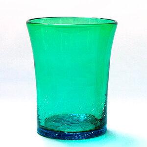 琉球ガラス 琉球グラス コップ 冷茶グラス 家飲み 宅飲み オンライン飲み会 ビールグラス ビアグラス ロックグラス【イラブチャー 口広グラス】