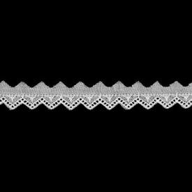 ≪1反単位でお買得≫1反14メートル コットンレース 綿レース白 生地 手芸約11mm幅ベビー、子供服、婦人衣料、手芸インテリア、レースドールに最適