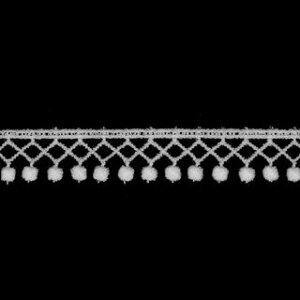 ケミカルレース生地 切り売り綿糸 白 約14mm幅国内生産なので安心ベビー、子供服、婦人衣料、手芸ブライダル、インテリア、和装小物、御朱印帳にも
