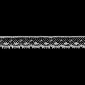 フランス製リバーレース 切り売りオフ白 約12mm幅ベビー、子供服、婦人衣料、手芸ブライダル、インテリア、レースドールに最適