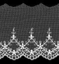 チュールレース生地 切り売りオフ白 約78mm幅ベビー、子供服、婦人衣料、手芸ブライダル、インテリア、和装小物に最適…