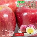 【2020/予約受付中】送料無料 青森県 青森 産地直送 サンふじ ふじりんご 10kg 前後 26玉 〜 46玉 りんご 蜜いり りん…