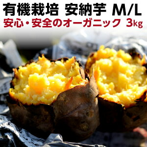 早割 ギフト 安納芋 有機 安納芋 安納いも あんのう芋 蜜芋 離乳食 五島列島 オーガニック MLサイズ A品 3kg