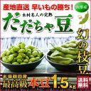 枝豆 だだちゃ豆 数量限定 幻の枝豆「白山だだちゃ豆・本豆」木村名人の完熟だだちゃ豆 本豆 1.5kg(500g×2袋)クー…