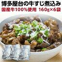 牛すじ煮込み 国産 160g×6袋 牛筋 牛スジ煮込み おつまみ 時短調理 レトルト メール便