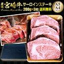 宮崎牛サーロインステーキA4/A5ランク200g×3枚ギフト対応可送料無料グルメ