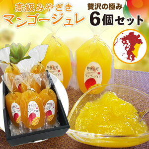 ギフト 完熟 サマーSALE中ポイント5倍 マンゴージュレ 高級 宮崎 6個入り プレゼント 贈答用 ご自宅用 mango