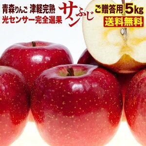 御贈答 ギフト りんご 5kg 青森産 津軽 完熟 サンふじ お誕生日 内祝い プレゼント フルーツ 果物 光センサー選果 送料無料