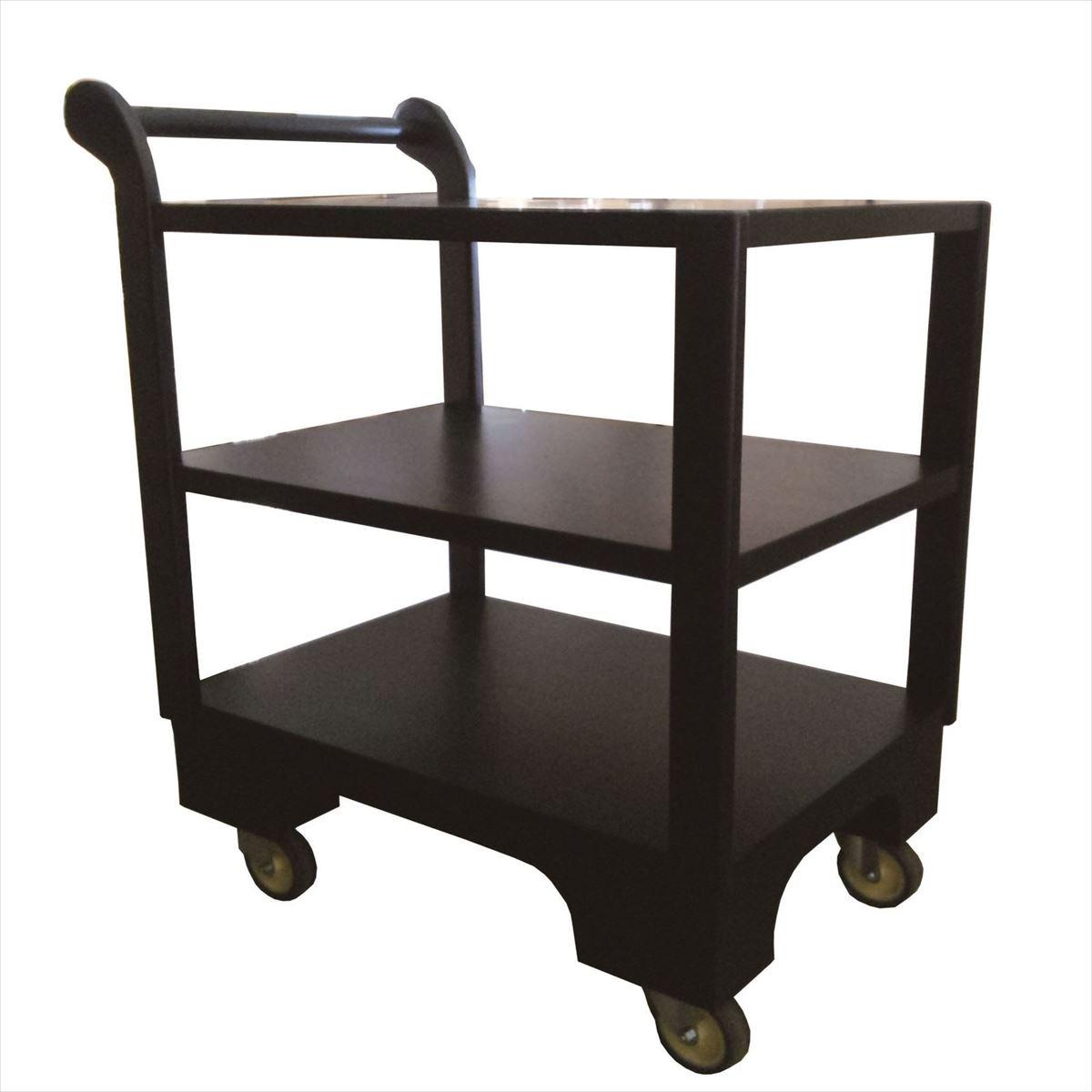 和風サービスワゴン45×86×81cm【旅館】【ホテル】【飲食店】【料亭】マホガニー使用キッチンワゴン車輪が大きいので畳の上でも安定して配膳ができます。
