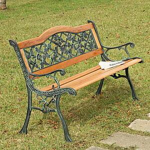 ガーデンベンチ 天然木&アイアン おしゃれなベンチ