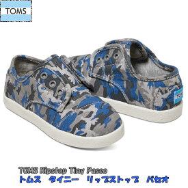 トムス TOMS CAMO COTTON RIPSTOP TINY TOMS PASEO SNEAKERS