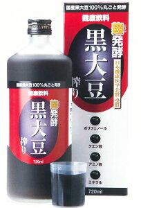 健康飲料【発酵 黒大豆搾り】720ml 箱入 堤酒造 ノンアルコール