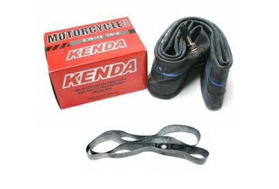KENDAタイヤチューブ+リムバンド 2セット2.75-14 275-14