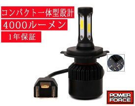 ★(POWER FORCE) LEDヘッドライトバルブ H4/HS1(Hi/Lo) 4,000LM LEAD125Dio110CBR250RDunkTACTマジェスティSトリシティ125シグナスX