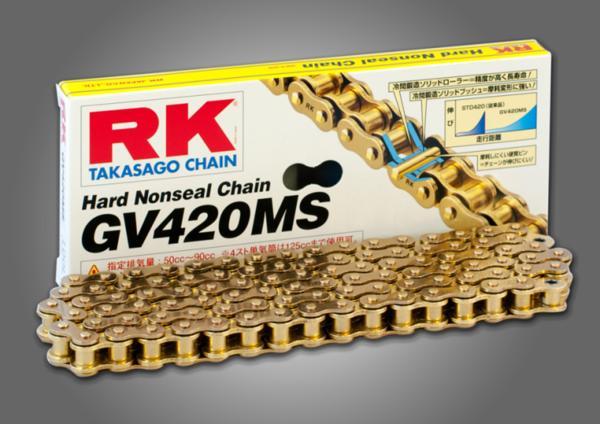 RKチェ−ン GV420MS-120 ゴールド 420-120