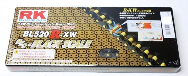 RKチェ−ン BL520R-XW-100 ブラック 520-100