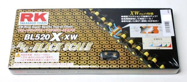 RKチェ−ン BL520X-XW-100 ブラック 520-100
