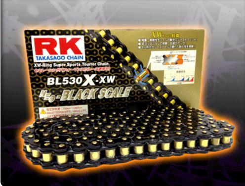 RKチェ−ン BL525R-XW-100 ブラック 525-100