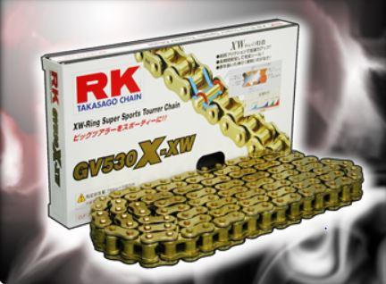 RKチェ−ン GV520X-XW-120 ゴールド 520-120