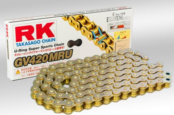 RKチェ−ン GV420MRU-100 ゴールド 420-100
