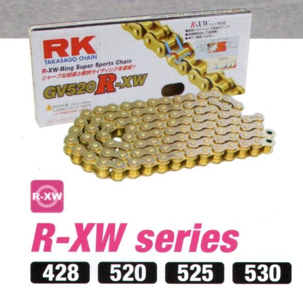 RKチェ−ン GV525R-XW110 ゴールド 525-110