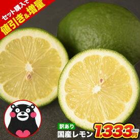 国産 レモン 訳あり 1.5kg 送料無料 熊本県産 2セット購入で1.5kgおまけ、3セット購入で3kgおまけ サイズ不選別 家庭用 訳ありレモン 檸檬 グリーン レモン 果汁たっぷり《10月中旬‐11月上旬頃より出荷予定》