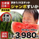 【送料無料】【訳あり品】スイカ日本一の産地・熊本産ジャンボすいか1玉(約6.8kg前後-約8kg前後)!甘くてみずみずしい♪《7-14営業日以内に出荷》