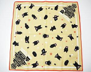 【送料無料】【人気のくまモングッズ】くまモンシャンタンハンカチ 熊本城 約サイズ 53cm×53cm メール便商品