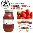 九州熊本の逸品 阿蘇木之内農園 阿蘇高原いちごジャム1000g 阿蘇産紅ほっぺ ※人気商品の為発送まで1週間以上かか…
