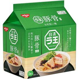 日清ラ王 豚骨ラーメン 30食 (5食×6袋) 袋麺 全粒粉入り麺