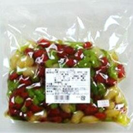 【冷蔵】カネハツ 業務用煮豆 三色豆 1kg 業務用 【賞味期限 お届けより56日前後】