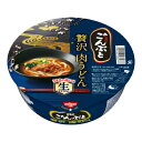 【訳あり商品】◎日清のごんぶと 贅沢肉うどん 232g 1箱(12食入り)