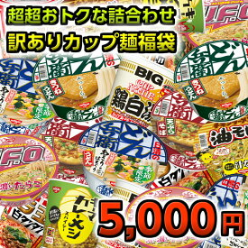 訳ありカップ麺 詰め合わせ 福袋 5000円セット 送料無料