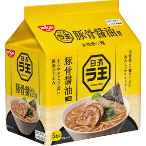 日清ラ王 豚骨醤油ラーメン 30食 (5食×6袋) 袋麺 全粒粉入り麺