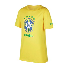 NIKE/ナイキ サッカー トップス [908343-749 CBF_Y_EVERG_CREST_S/S_Tシャツ] 子供サイズ_半袖Tシャツ_ブラジル代表/2018SS 【ネコポス対応】