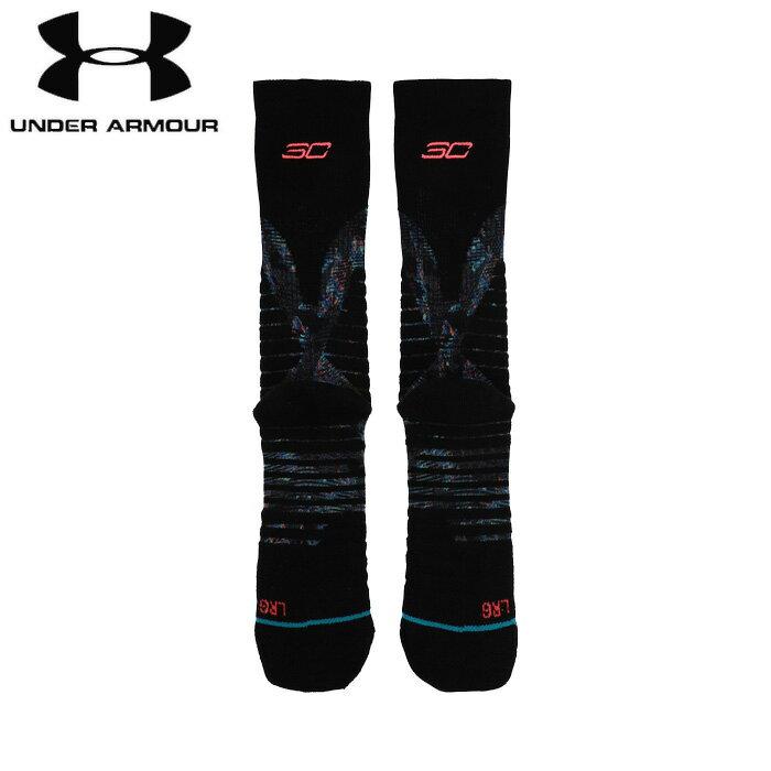 under_armour/アンダーアーマー バスケットボール ソックス [1342991-001 UA_Stance_Curry_5_Crew] 靴下_バッソク_ステファン・カリー/2018FW 【ネコポス対応】