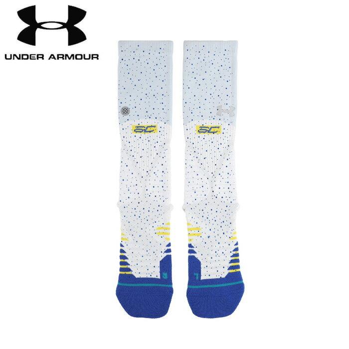 under_armour/アンダーアーマー バスケットボール ソックス [1342991-100 UA_Stance_Curry_5_Crew] 靴下_バッソク_ステファン・カリー/2018FW 【ネコポス対応】