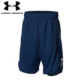 under_armour/アンダーアーマー バスケットボール パンツ [1364725-408 ユースビッグロゴショーツ] キッズ・ジュニアサイズ_子供サイズ_ミニバス_バスパン/2021SS【ネコポス対応】