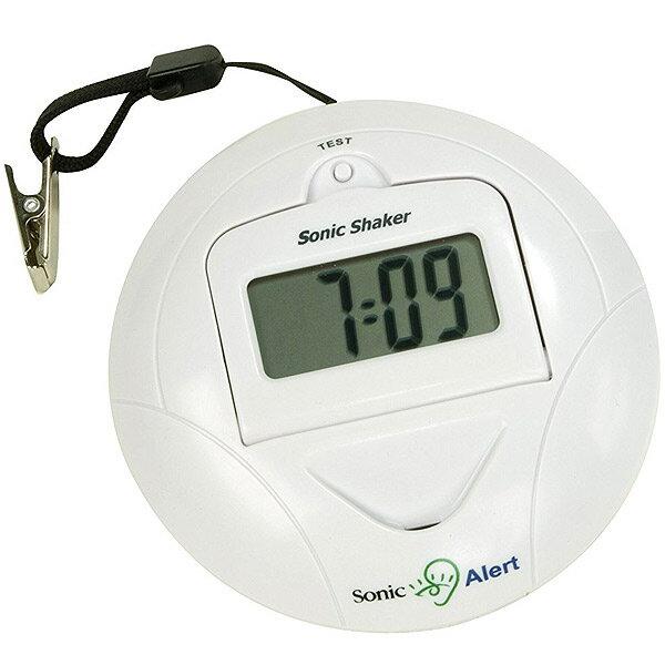 ソニックシェーカ SBP100(ホワイト)送料無料 携帯型振動式目覚まし時計超強力なバイブレーター振動 アラームクロックsonic shaker ソニックシェーカー※沖縄・九州・北海道・離島は送料別です。