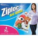 ジップロック ダブルジッパー xl 4枚入りビッグバッグ 底マチ付き 手穴付きZiploc Big Bag Double Zipper 4p【送料無料】 並行輸...