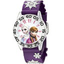 ディズニー アナと雪の女王 腕時計(パープル)Disney Kids「W002437」Frozen Elsa & Anna Time Teacher Analog Display…
